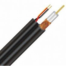 RG59 200 metre B/U 75Ohm Shotgun 2core 0.5mm Coax Black Cable