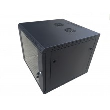 Trident 9U 600x600mm Black Wall Box