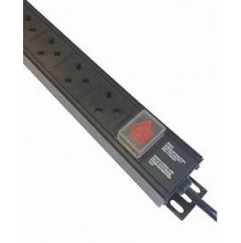 8 Way UK Vertical PDU 13A UK Plug