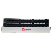 Trident Cat5e UTP 48port 2U Rear Punch Patch Panel