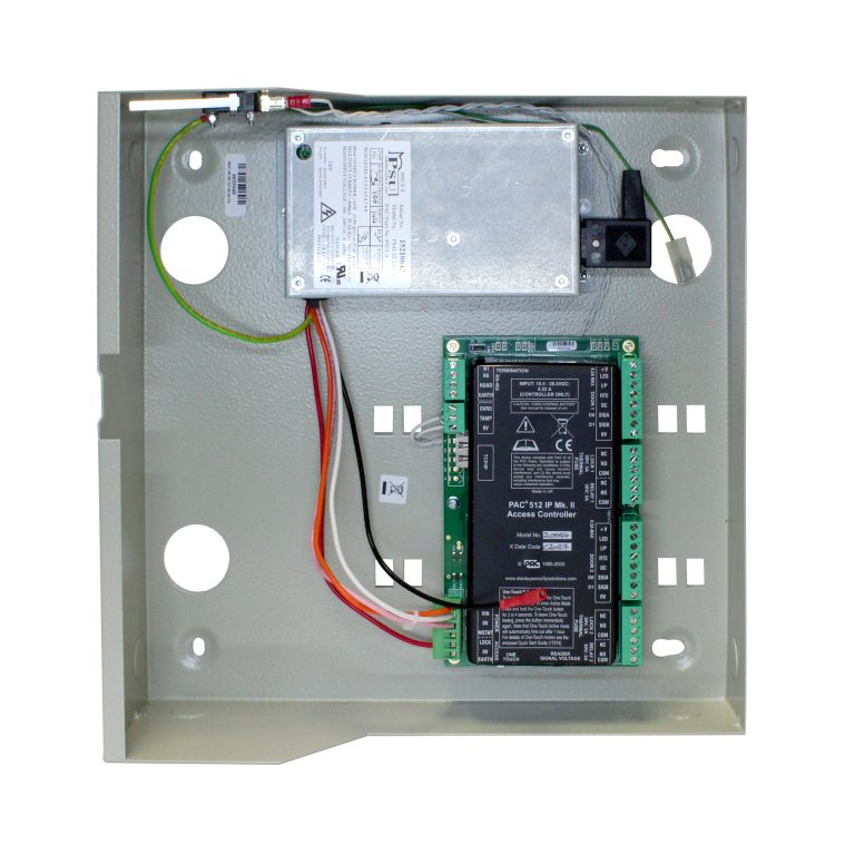 PAC 512IP Access controller in a metal case with 3Amp PSU