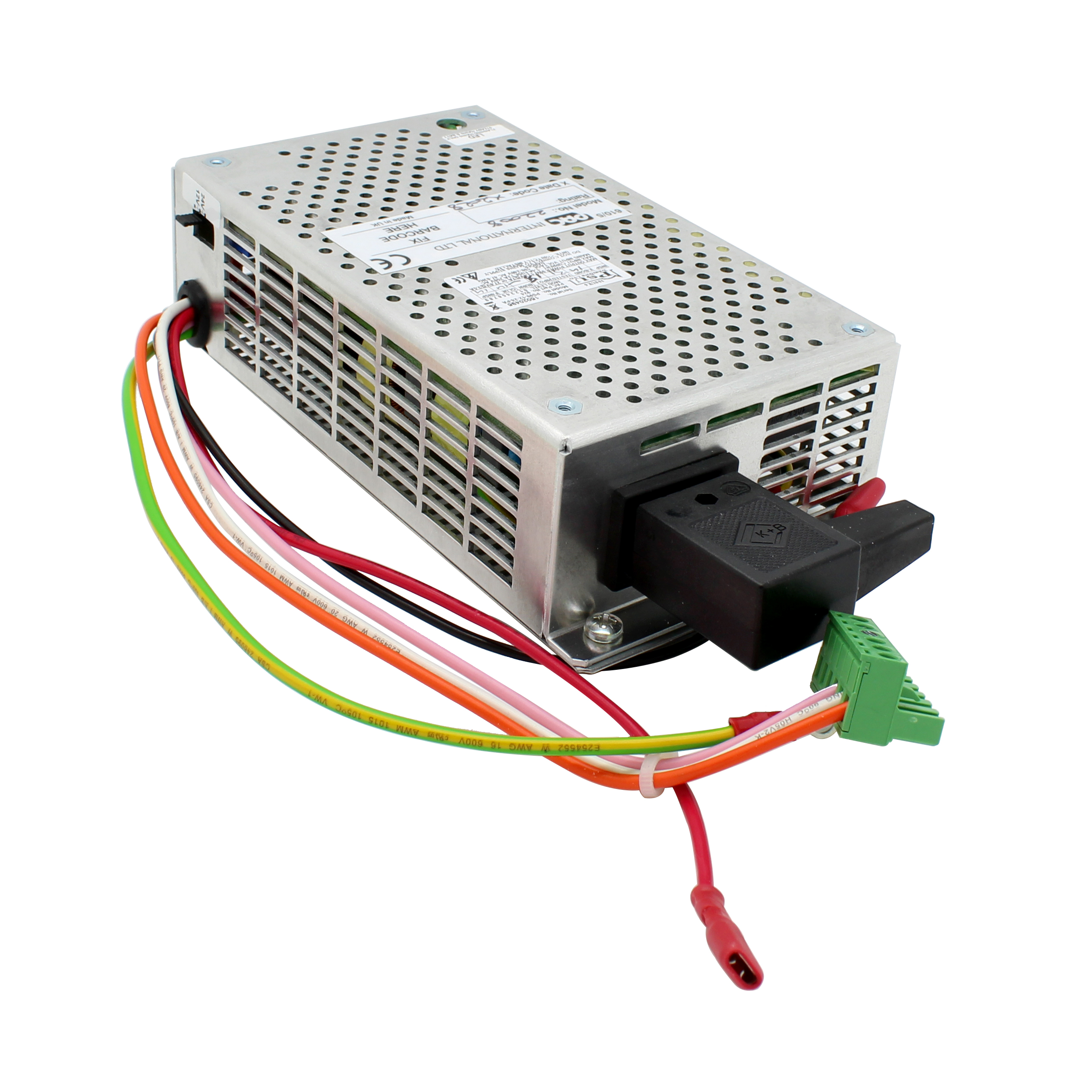 DIN rail PSU with battery charger - output 12/24VDC at up to 7.2Amps