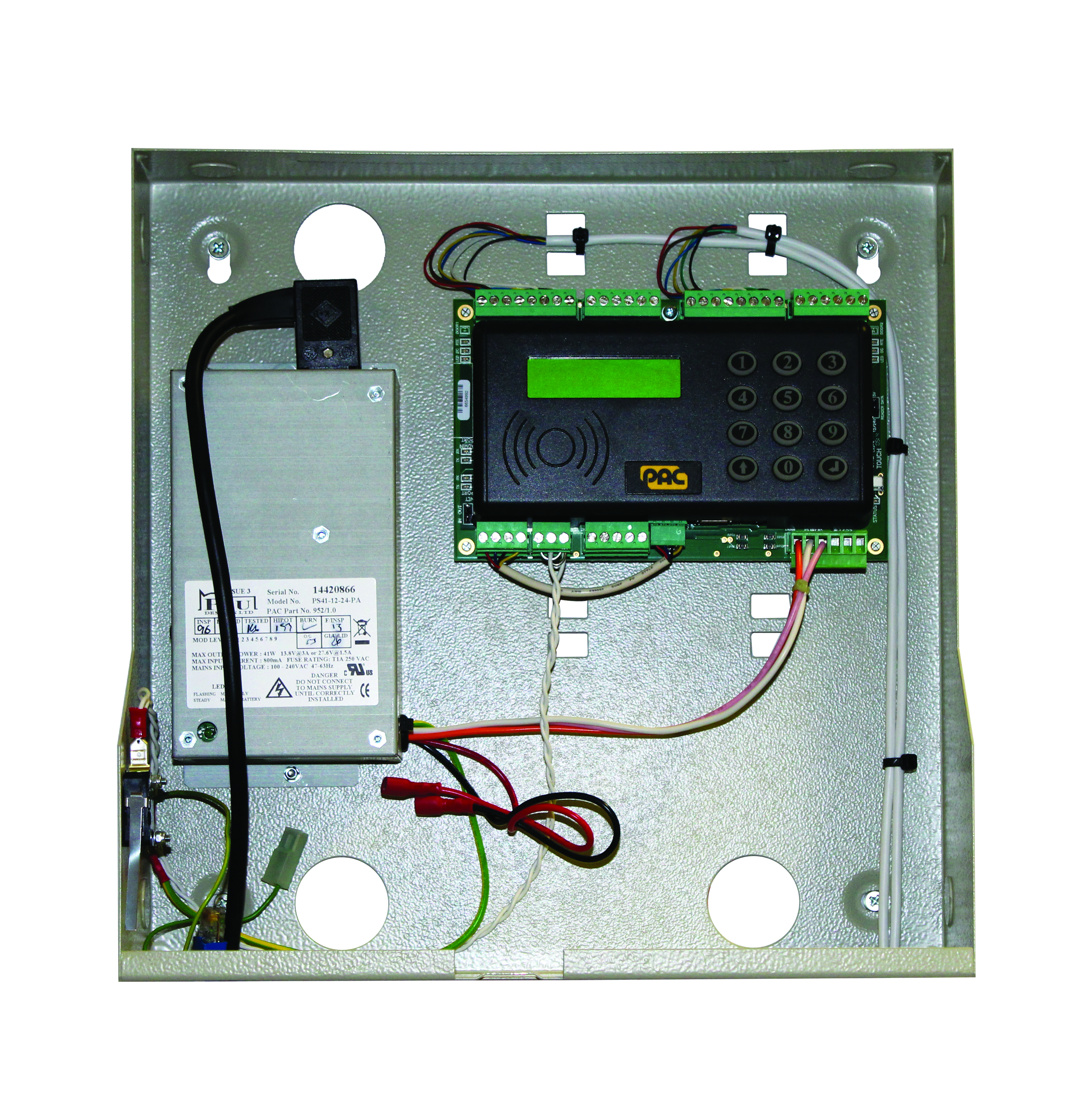 PAC212 HF boxed 2 door controller with 3Amp PSU