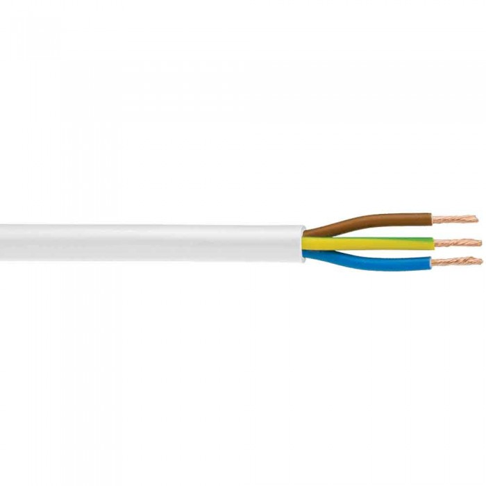 3 Core Round Flexible 1.5mm White 3183Y Cable