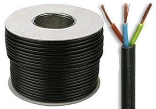 3 Core Round Flexible 0.75mm Black 3183Y Cable