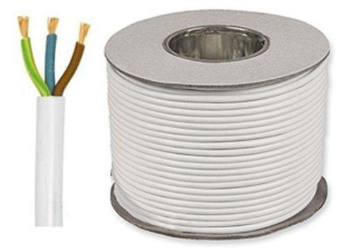 3 Core Round Flexible 0.75mm White 3183Y Cable