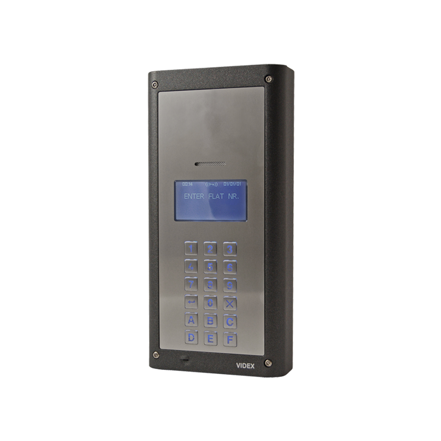 Vandal Resistant 4000 Series Digital Audio Panel with Alpha-numeric keypad