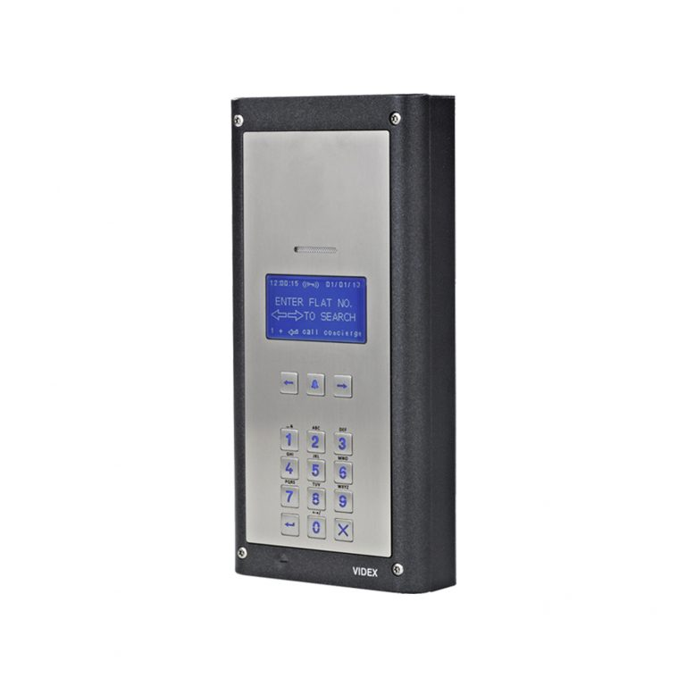 Vandal Resistant 4000 Series Digital Audio Panel with Scroll facility