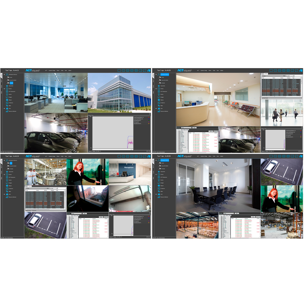 ACTviquest pro integrated access control and VMS solution - video wall