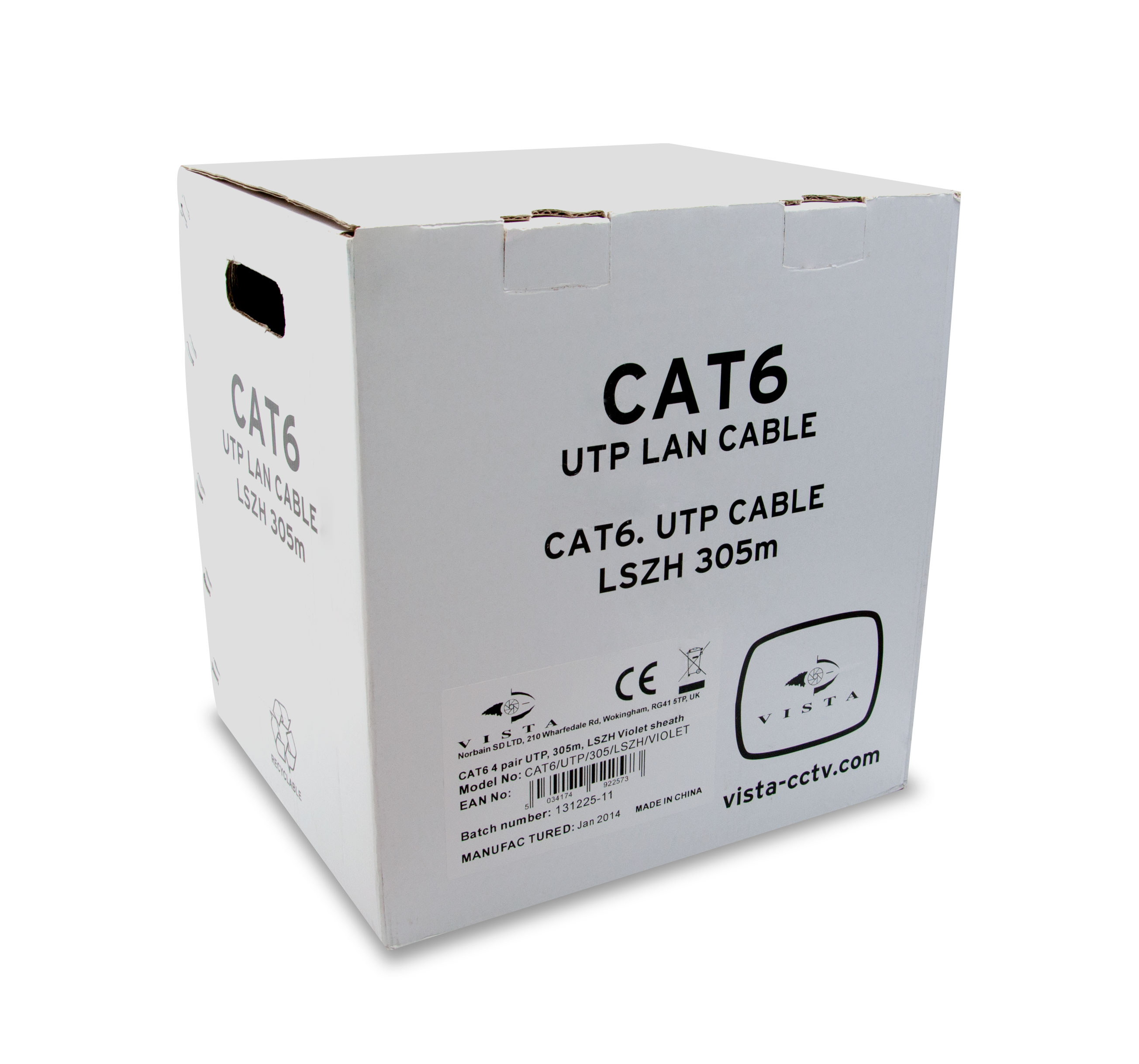 305m CAT6 4 pair UTP grey duct (PE) sheath