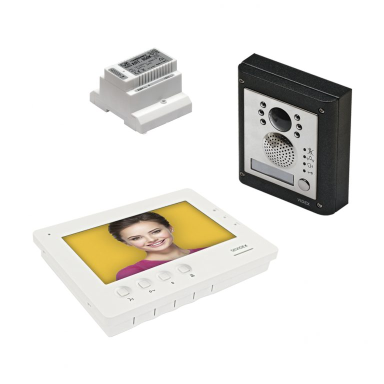 1 button 4000 Series Colour Video Kit (surface) with 6700 series videophone