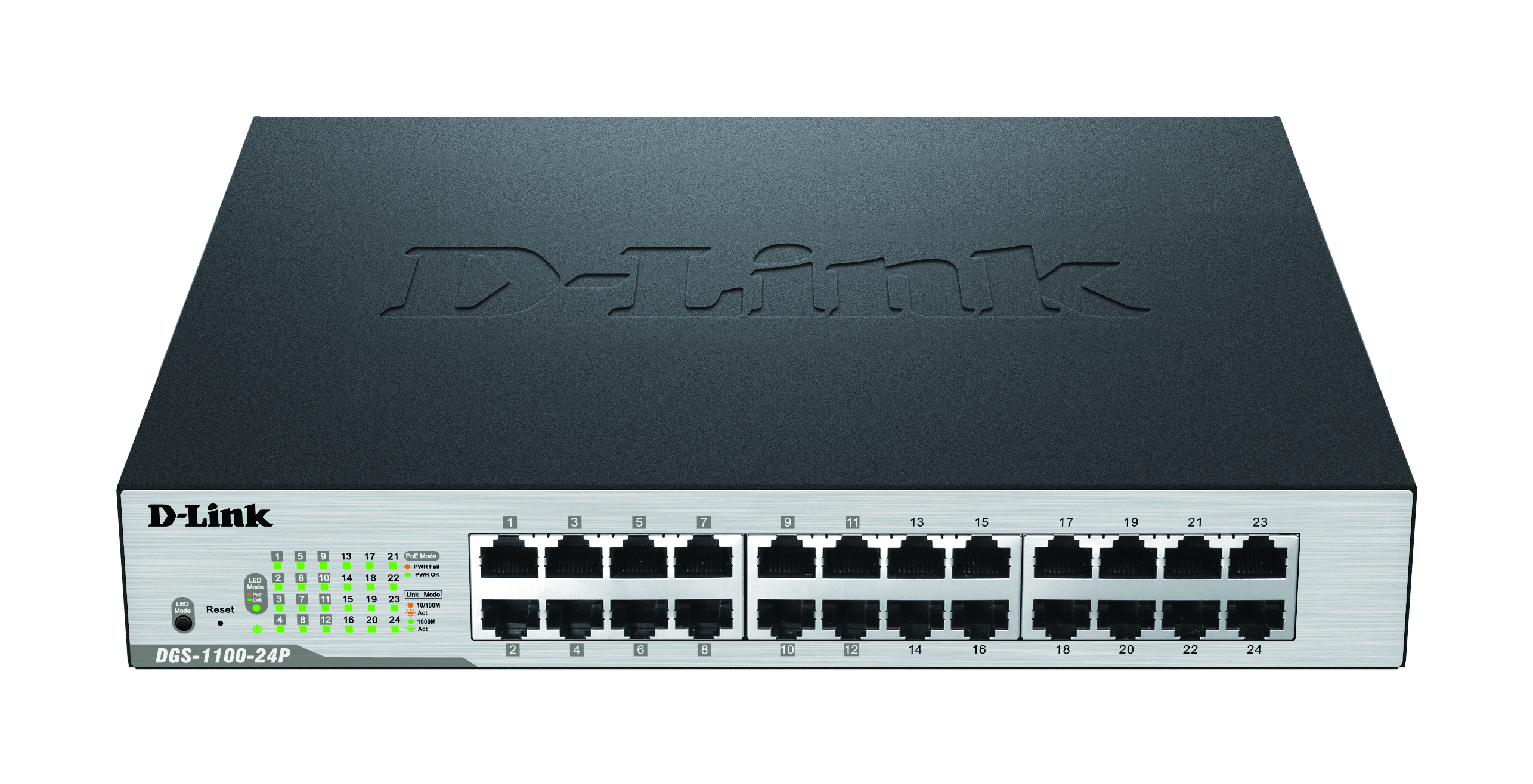 24-Port PoE Gigabit Smart Switch with 100W power budget