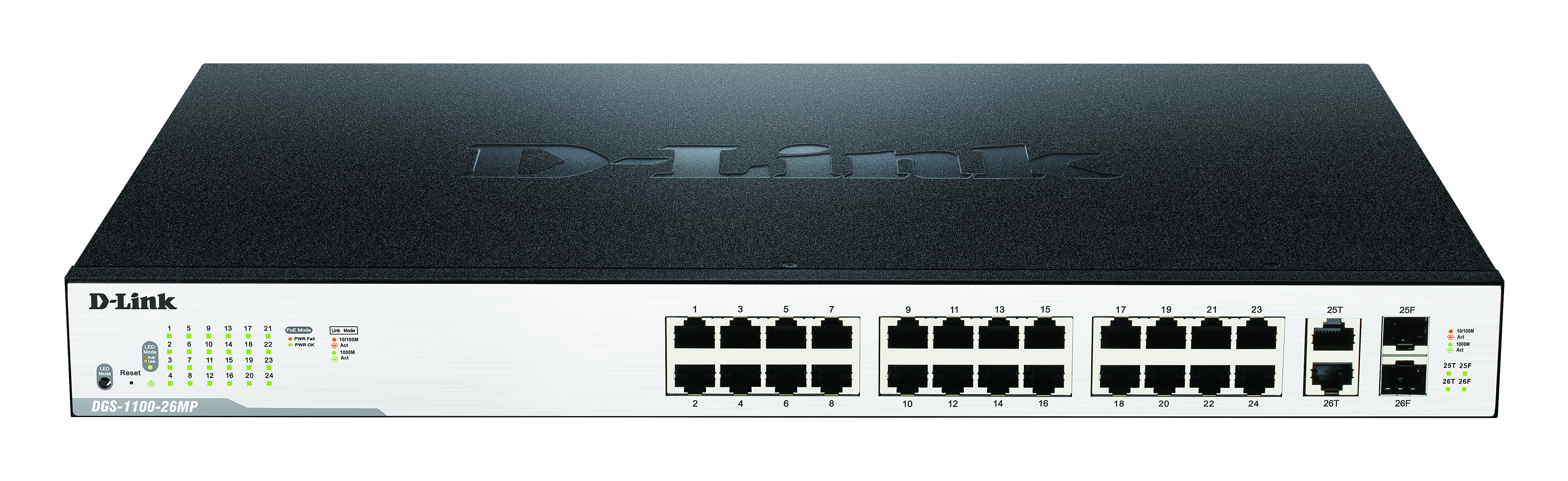 26-Port GB EasySmart Switch with 242W power budget