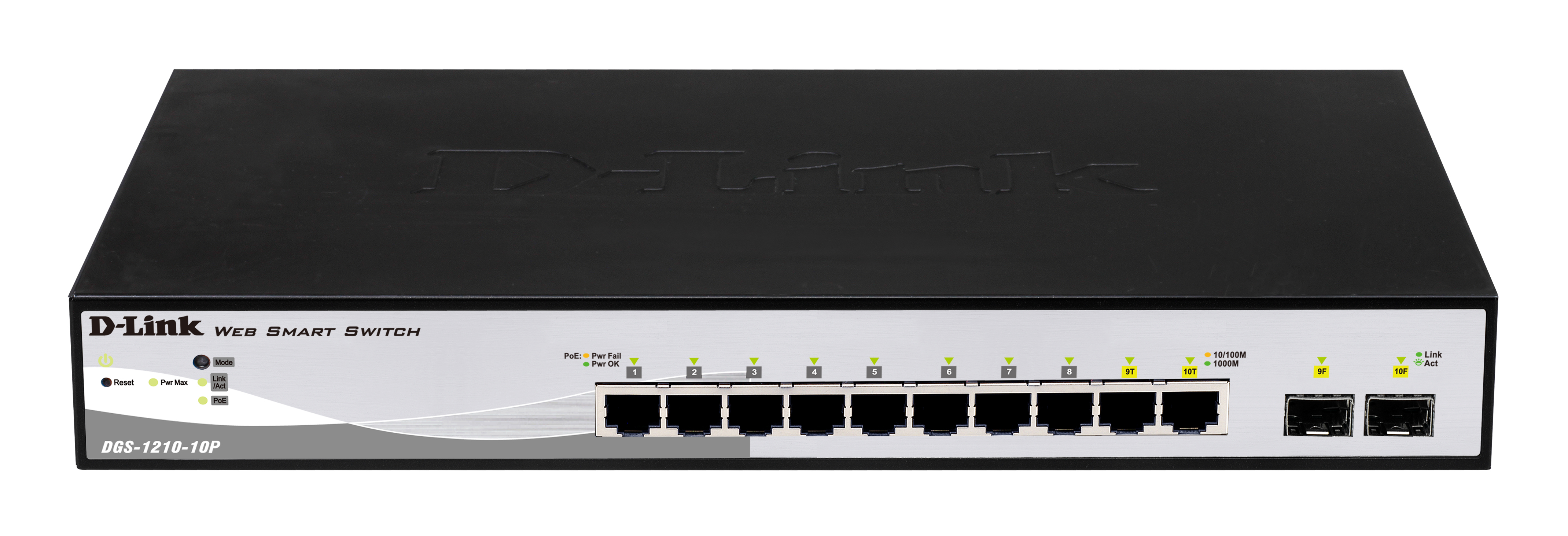 10-port GB PoE Smart Switch including 2 X SFP with 78W power budget