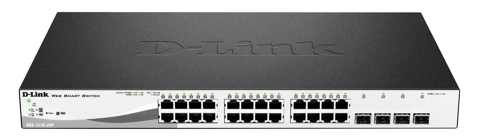 24 PoE port with 4 x SFP ports with 193W power budget