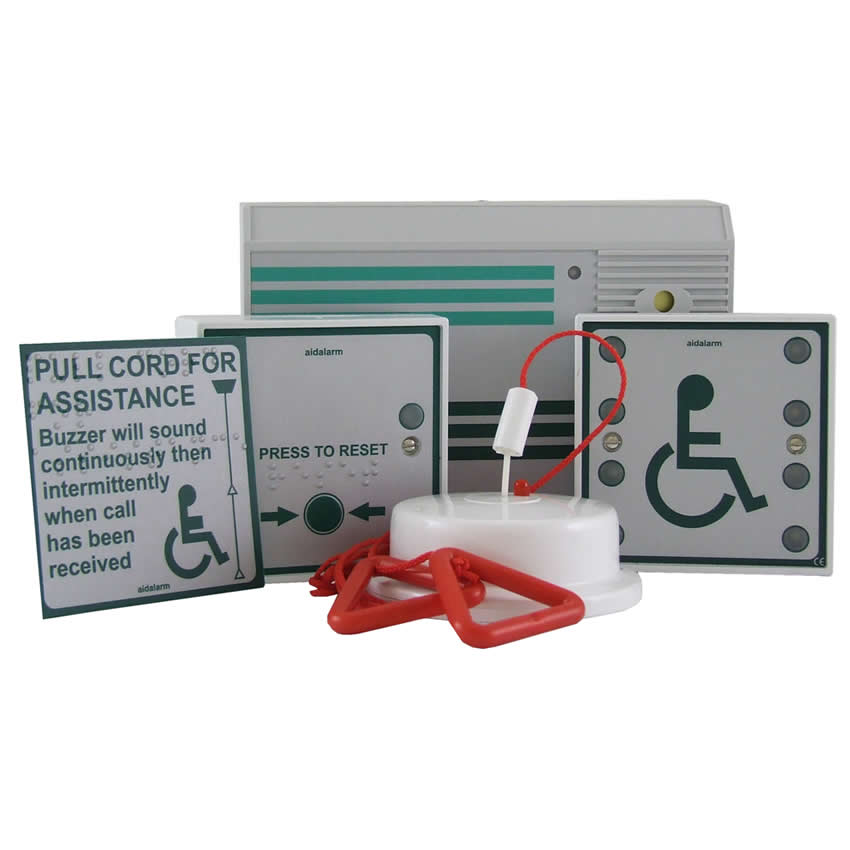 Mains Powered Disabled Toilet Alarm Kit - Aid alarm