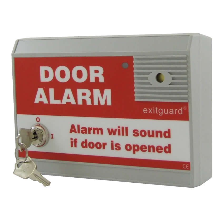 Emergency Exit Door Alarm Mains powered - Key switch Control