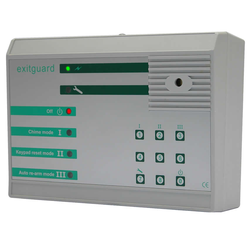 Emergency Exit Door Alarm Mains powered - Keypad Control