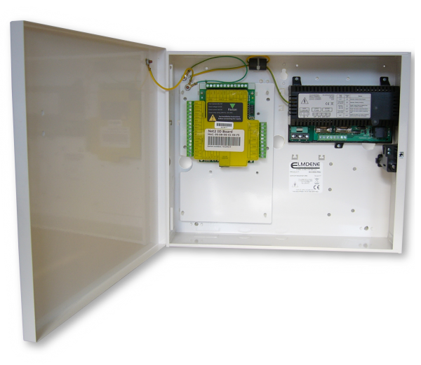 13.8Vdc 2A Access Control PSU with battery back-up and mounting positions for common controllers such as Paxton Net2