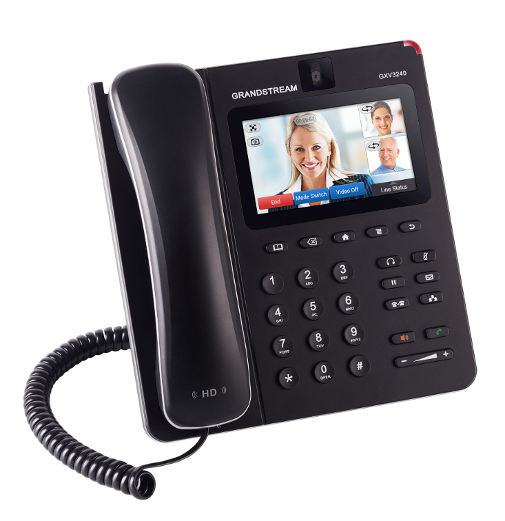 Multimedia IP telephone with 4.3 inch colour LCD