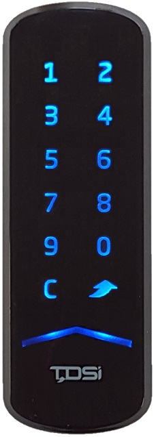 MIFARE® CSN Mullion reader with keypad