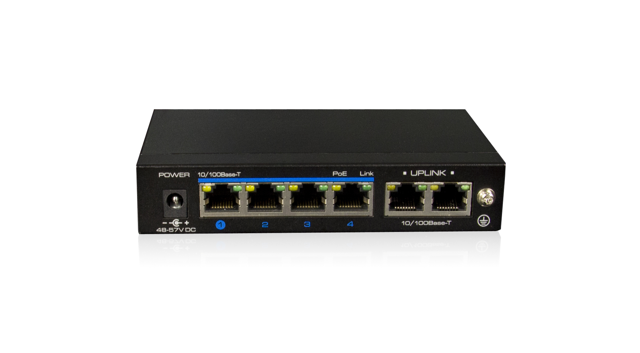High Powered 4 Port PoE Switch
