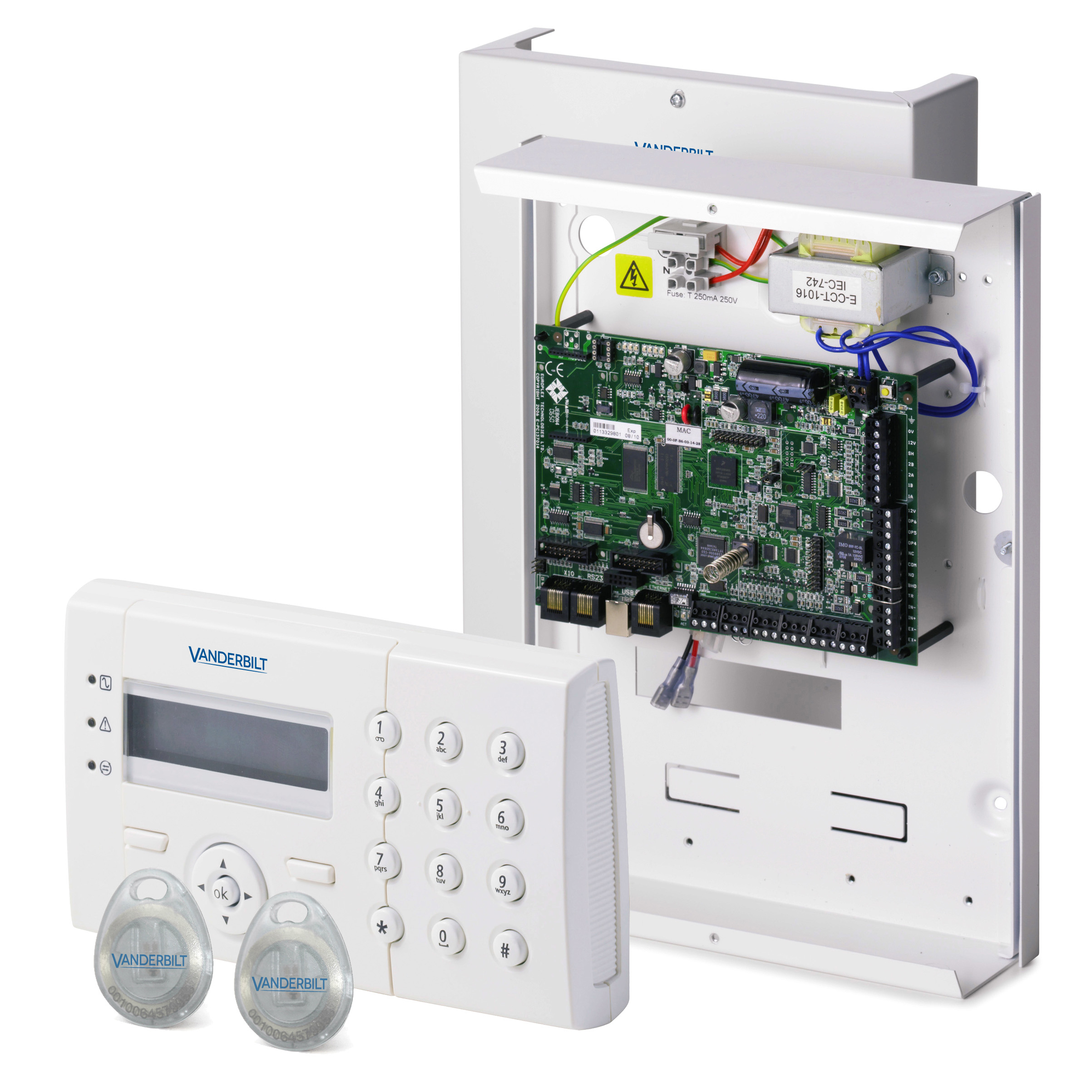 SPC4320.320 KIT with LCD keypad and CR