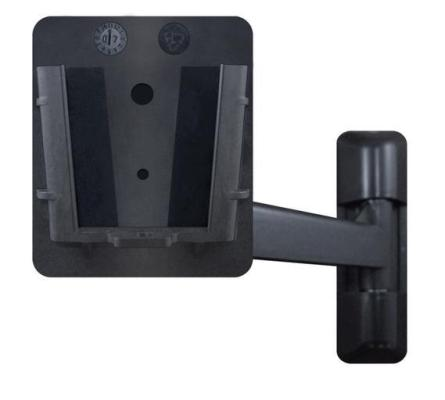 VESA75/100 wall bracket with adjustable arm