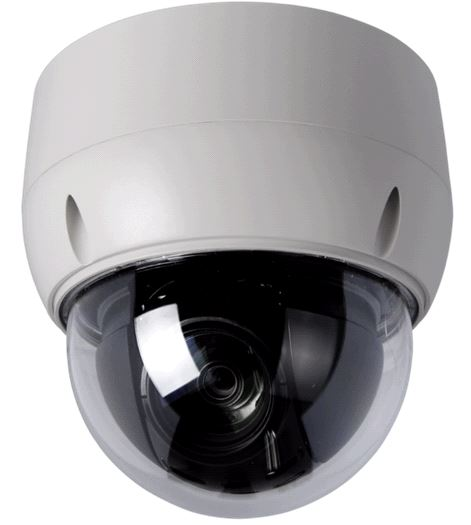 Discrete 20:1 Vandal Resistant PTZ Dome with 4 Alarm Inputs surface mount