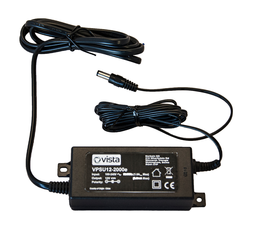 12VDC 2000mA (24W) encapsulated PSU 2.1mm jack plug