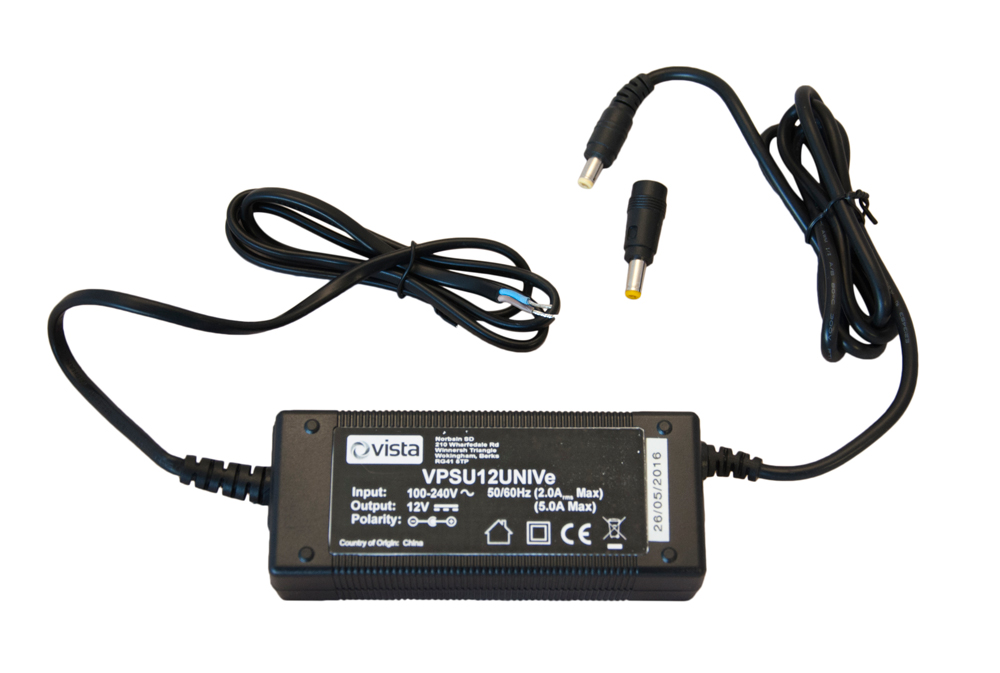 12VDC 5000mA (60W) encapsulated PSU 2.1mm jack plug