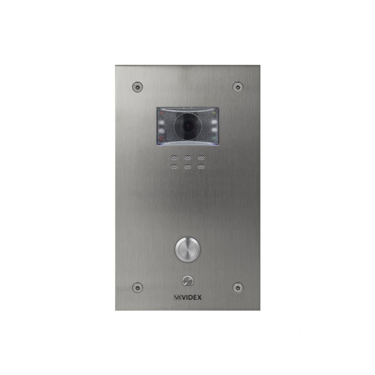 1 button Vandal Resistant IP Colour Video Panel (flush)