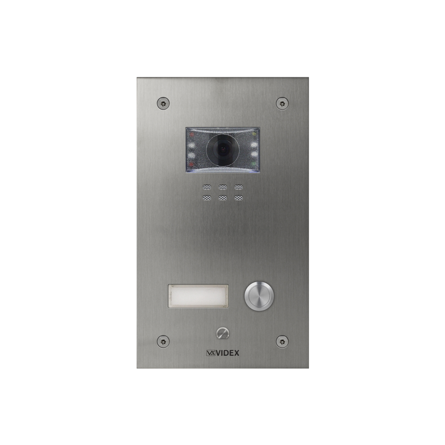 1 button with nameplate Vandal Resistant IP Colour Video Panel (flush)