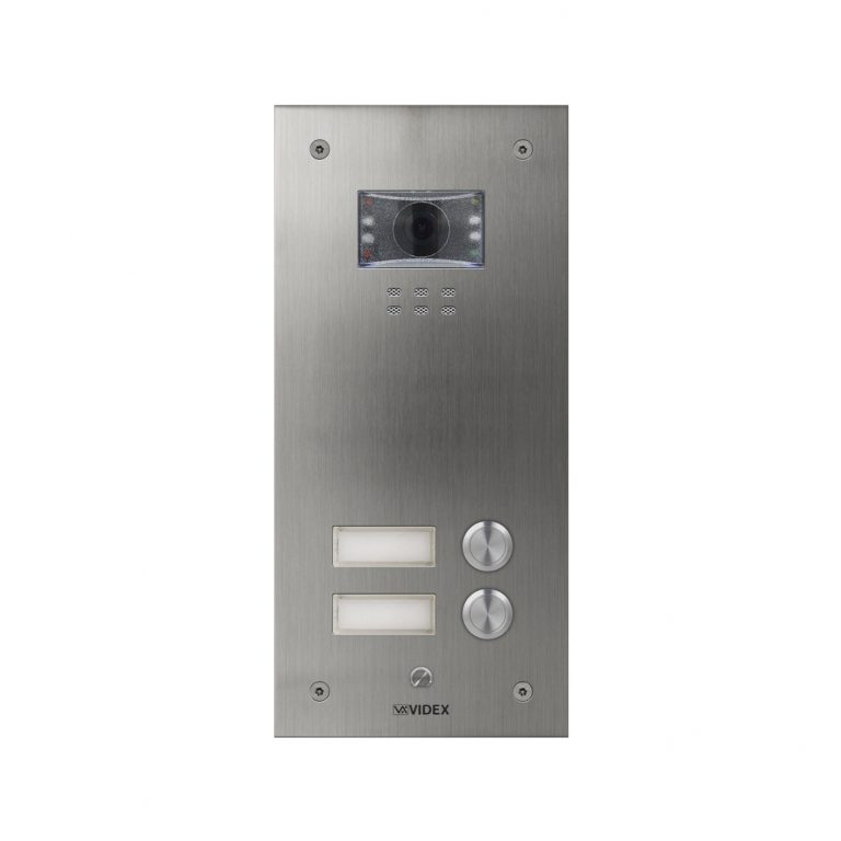 2 button with nameplate Vandal Resistant IP Colour Video Panel (flush)