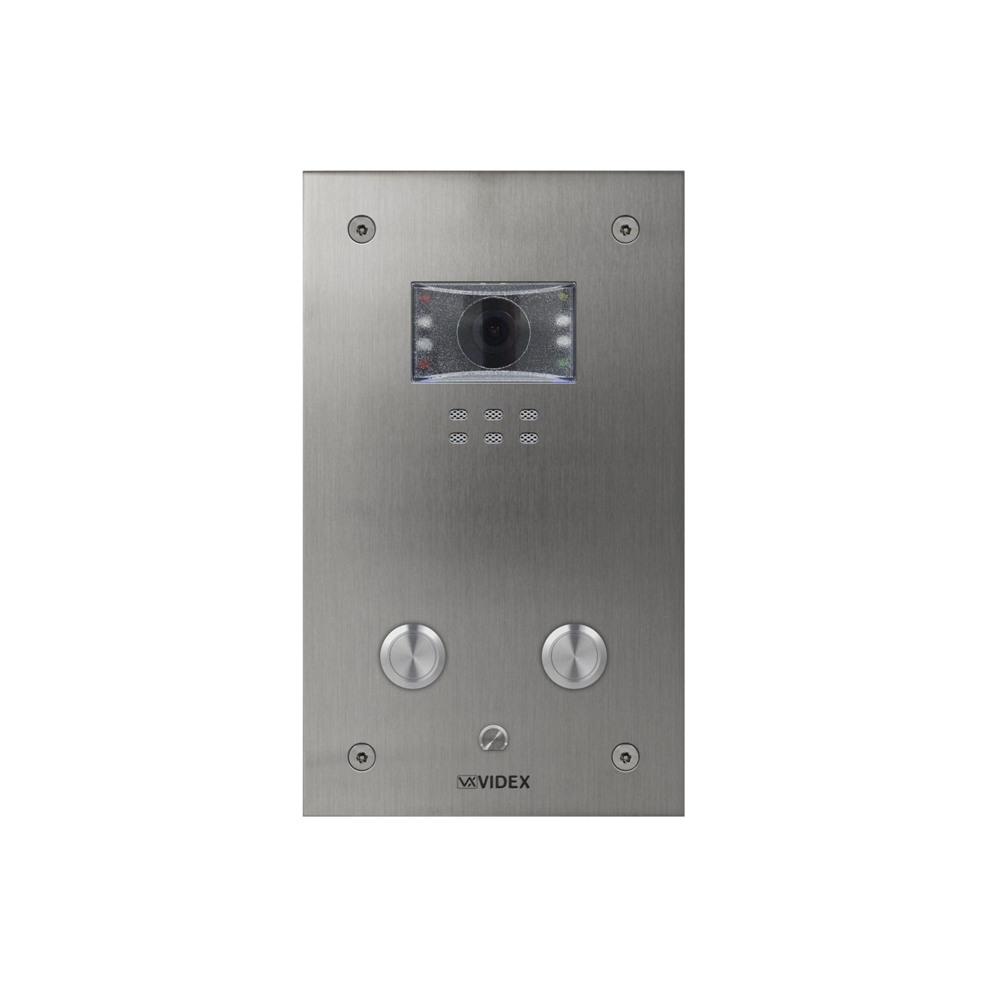 2 button Vandal Resistant IP Colour Video Panel (flush)