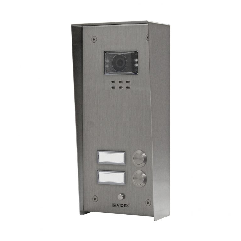 2 button with nameplate Vandal Resistant IP Colour Video Panel (surface)
