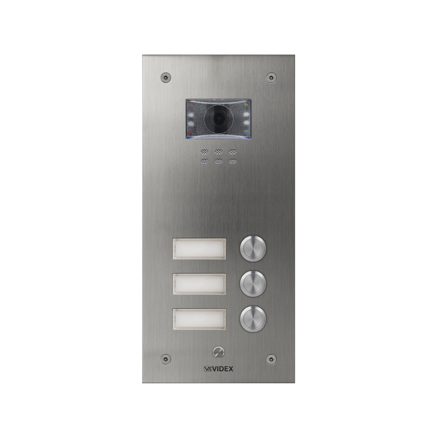 3 button with nameplate Vandal Resistant IP Colour Video Panel (flush)