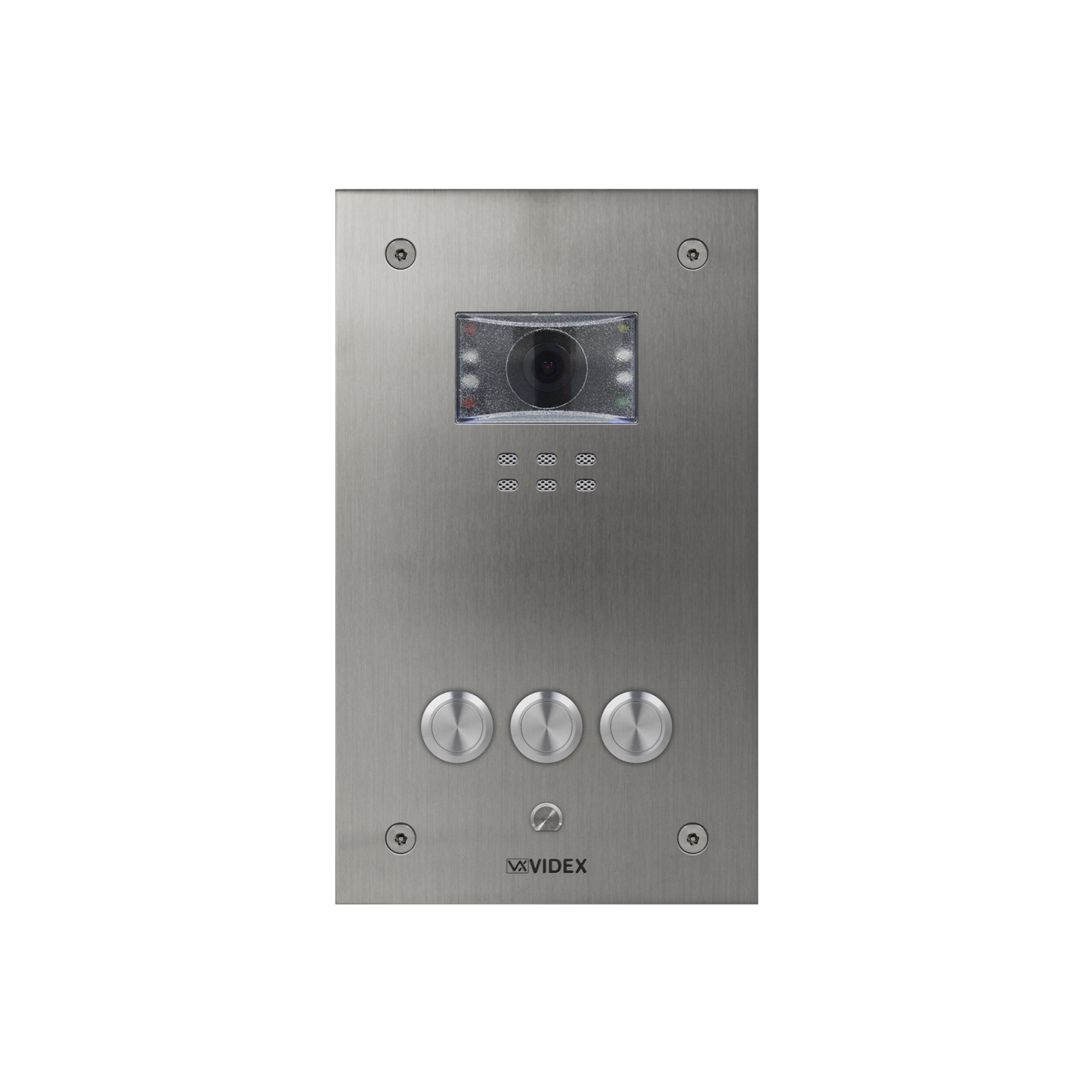 3 button Vandal Resistant IP Colour Video Panel (flush)