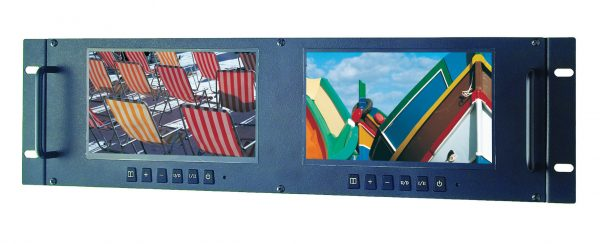 """LRM7521 2 x 7"""" TFT LCD Monitors with a Colour Digital LED Backlight Panel"""