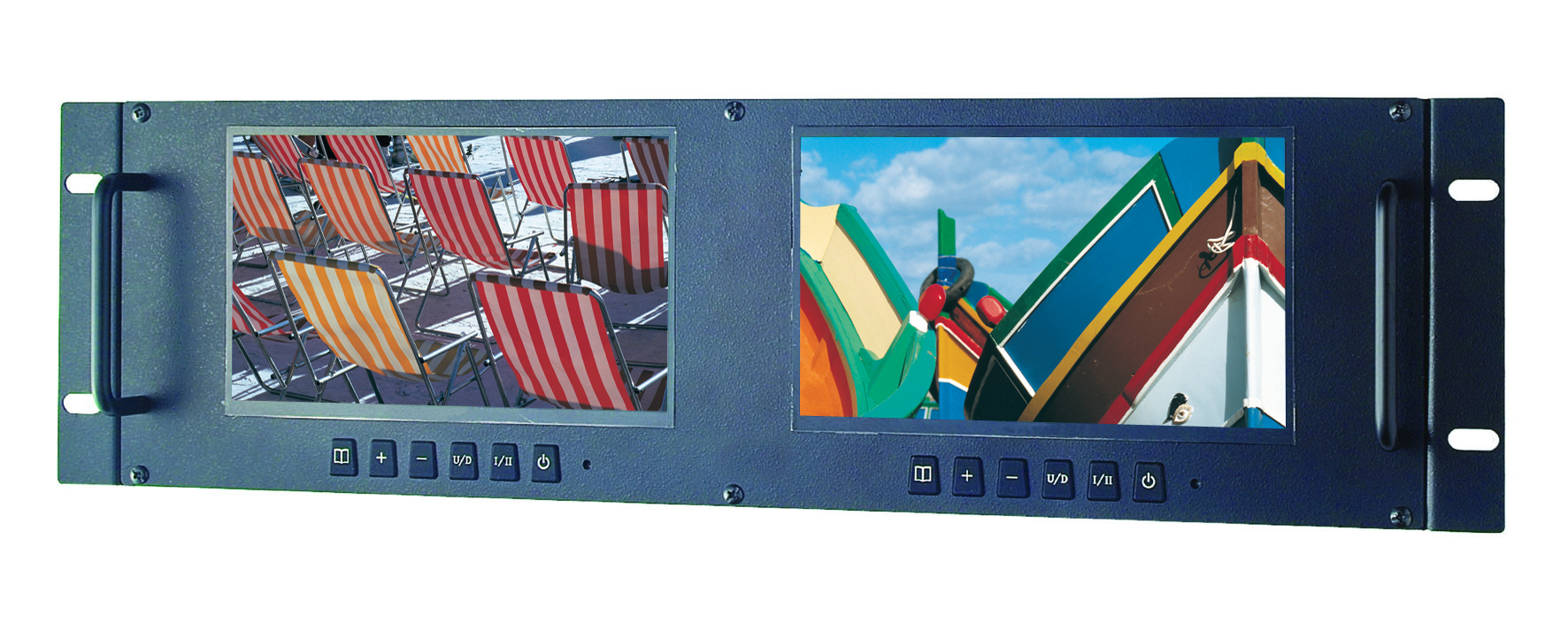 "LRM7521 2 x 7"" TFT LCD Monitors with a Colour Digital LED Backlight Panel"