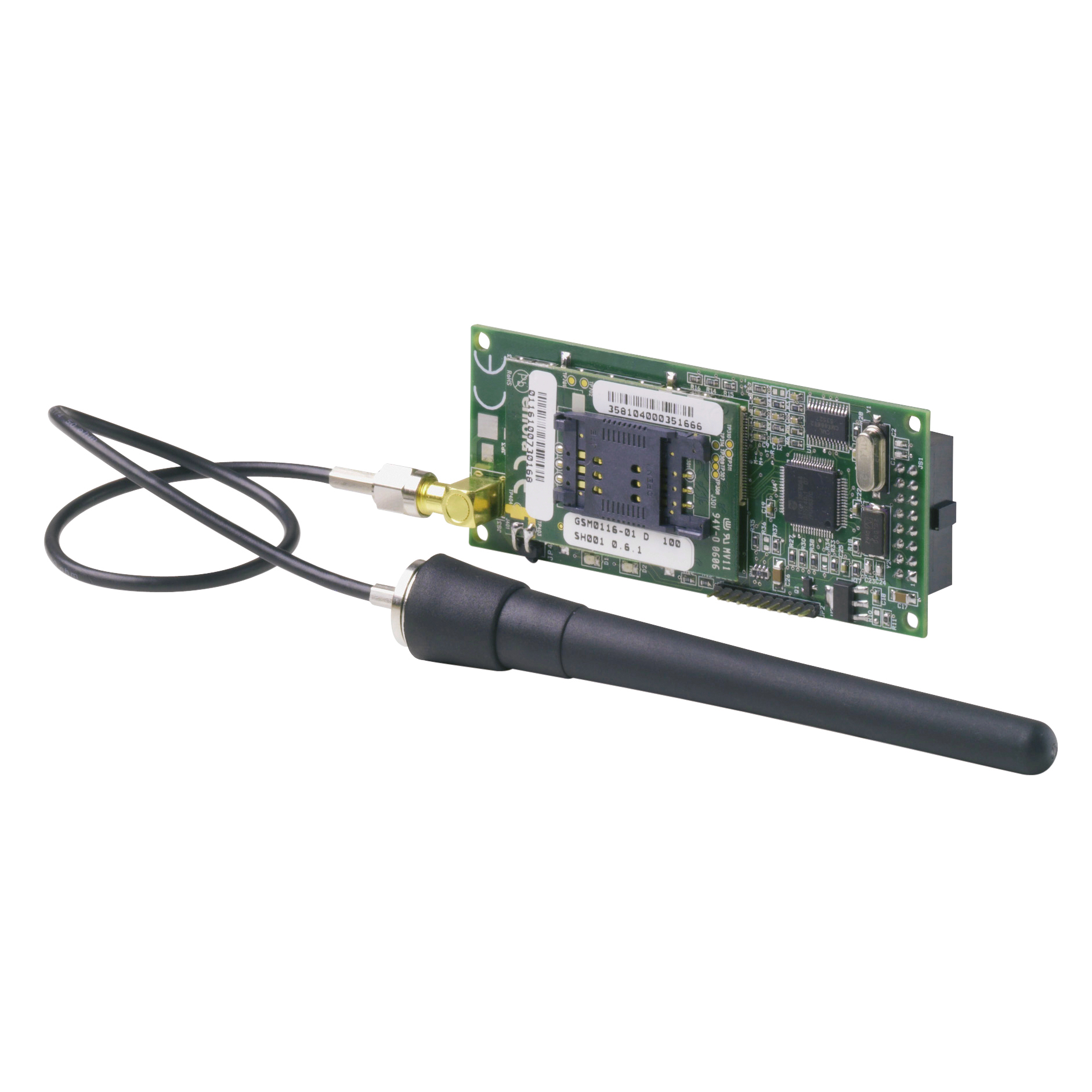 GSM communication module with antenna