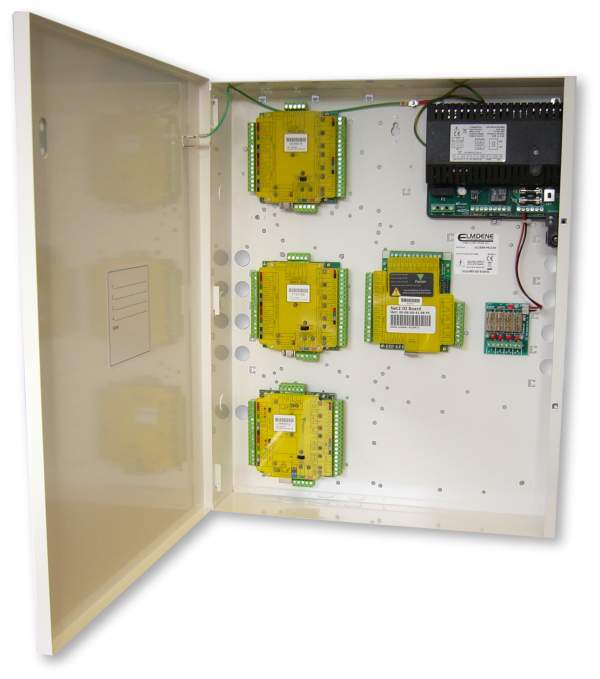 13.8Vdc 8A Access Control PSU with battery back-up and mounting positions for common controllers such as Paxton Net2