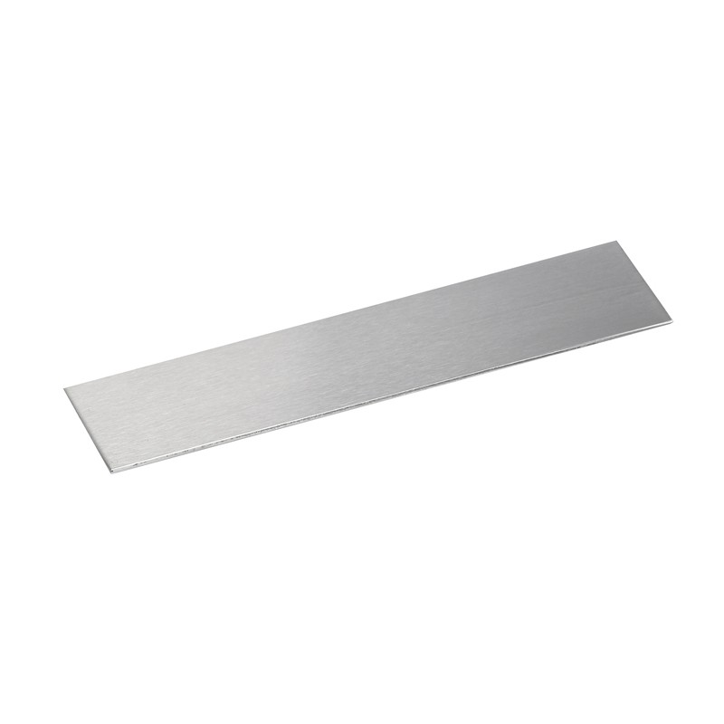 Slim cover plate for glass doors