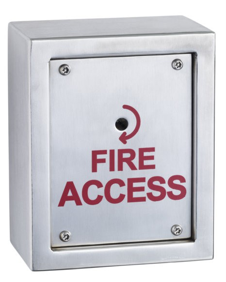Surface mount stainless steel firemans switch
