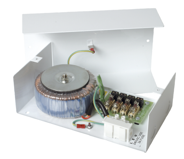 230V AC to 4 x 1A 24V AC Power supply within mild steel enclosure