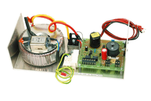 Open frame 12V 6A DC power supply with UPS and monitoring