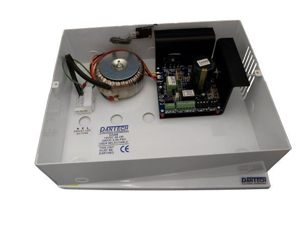 12V 5A DC or 24V 2.5A DC Power supply with UPS and monitoring