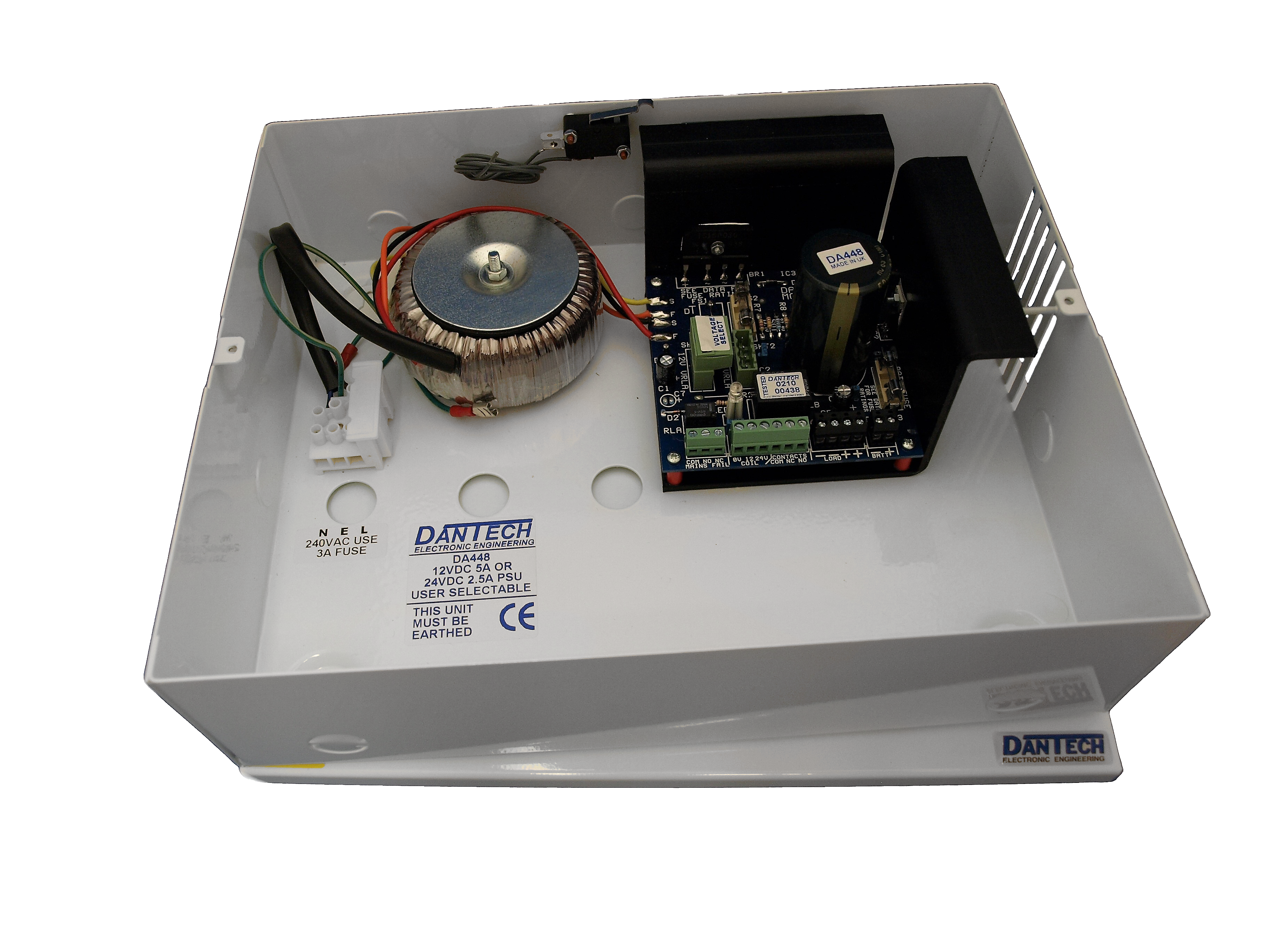 12V 5A DC or 24V 2 5A DC Power supply with UPS and monitoring