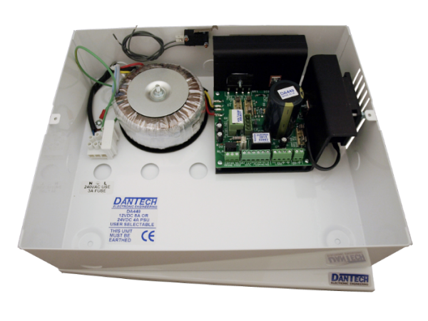 12V 8A DC or 24V 4A DC Power supply with UPS and monitoring