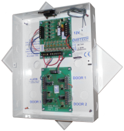 12V DC Three door normally closed interlock module with optional delay timer